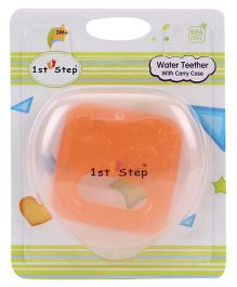 1st Step Water Teether With Case - Orange