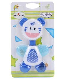 1st Step Flexi Neck Rattle Teether Blue - 14 cm