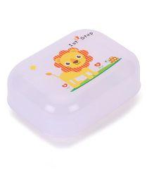 1st Step Soap Box Lion Print - White