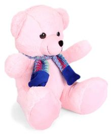 Funzoo Muffy Teddy Bear Soft Toy With Muffler Pink - Height 30 cm