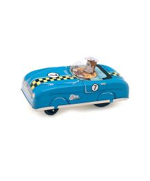 TinTreasures Press And Go Sports Toy Car - Blue
