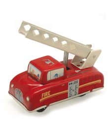 TinTreasures Press N Go Fire Engine - Red