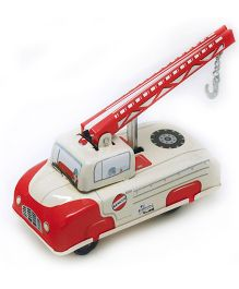 TinTreasures Press N Go Toy Tow Truck - Red