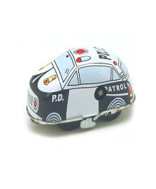 TinTreasures Highway Wind Up Toy Police Car - White