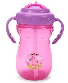 1st Step Sipper Cup With Handles Pink And Purple