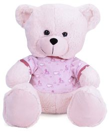 Funzoo Cloudy Teddy Bear Soft Toy With Printed Dress - Pink