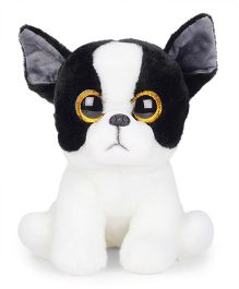 Keel Sparkle Eye Puppy Soft Toy White Black - 25 cm
