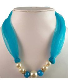 Tiny Closet Pearl Net Necklace - Blue