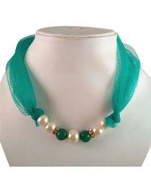 Tiny Closet Pearl Net Necklace - Green