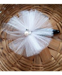 Tiny Closet Net Hair Clip - White