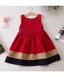 Cherubbaby Corduroy Dress - Red