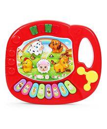 Playmate Mini Animal Farm Piano - Red