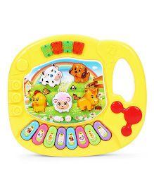 Playmate Mini Animal Farm Piano - Yellow