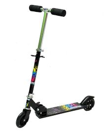Happy Kids Foldable And Height Adjustable Skating Scooter - Black