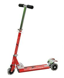 Happy Kids Foldable And Height Adjustable Skating Scooter - Red