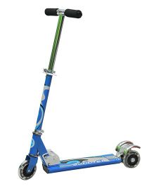 Happy Kids Foldable And Height Adjustable Skating Scooter - Blue