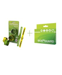 Bodyguard Natural Mosquito Repellent Patch Plus Mosquito Repellent Band - 20 Patches & Set Of 2 Bands