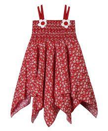 Young Birds Asymmetric Dress - Red