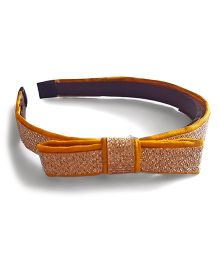 Soulfulsaai Lace Bow Hair Band - Yellow
