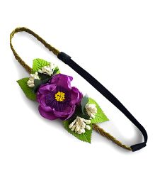 Soulfulsaai Big Flower Baby Headband - Purple