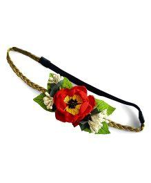 Soulfulsaai Big Flower Baby Headband - Red