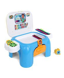 Playmate Alphabet With Numbers Table - White Blue