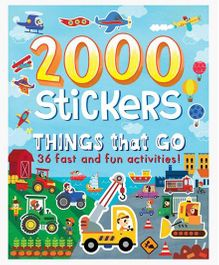 2000 Stickers Things That Go - English
