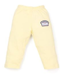 Bodycare Full Length Track Pants  Little Dude Patch - Yellow