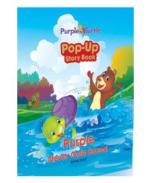 Purple Never Gets Up Bored Story Book - English