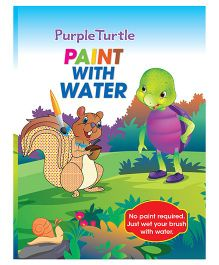 Purple Turtle Paint With Water Activity Book - English