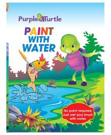 Purple Turtle Paint With Water 3 Activity Book - English