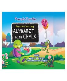 Purple Turtle Practice Writing Alphabet With Chalk Book - English