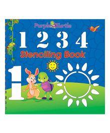 Purple Turtle 1234 Stenciling Board Book - English