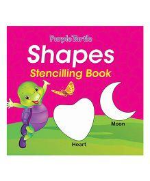 Purple Turtle Shapes Stencil Board Book - English