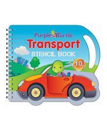 Purple Turtle Transport Stencil Board Book - English