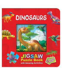 Purple Turtle Dinosaurs Jigsaw Puzzle Book Window - English