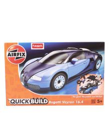 Airfix Quick Build Bugatti Veyron Model Car Kit Blue - 34 Pieces