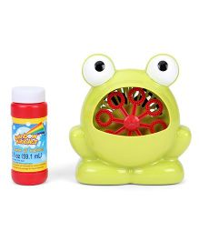 Comdaq Battery Operated Bubble Frog With Fuel - Green