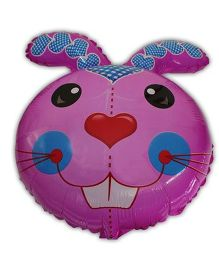 Partymanao Rabbit Shaped Foil Balloon Pink - 18 cm