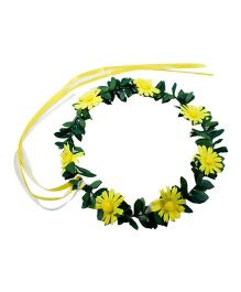 Partymanao Floral Tiara Sunflower Yellow - 16 cm