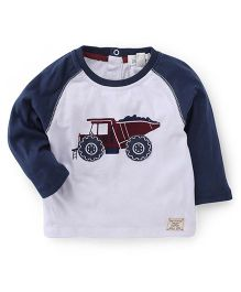 Pumpkin Patch Full Sleeves T-Shirt Truck Print - White