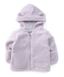 Pumpkin Patch Full Sleeves Hooded Jacket - Light Grey