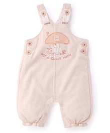 Pumpkin Patch Dungarees Home Sweet Home Embroidery - Pink