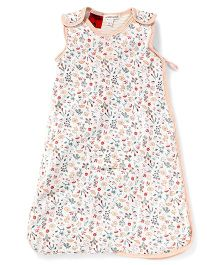 Pumpkin Patch Sleeping Bag Multi Print - White