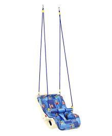 Infanto 7 In 1 Swing Bouncer Teddy And Floral Print 038 - Blue