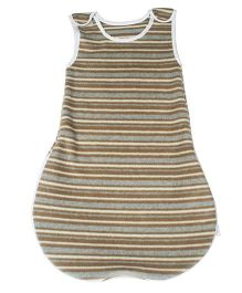 Kadambaby Striped Fleece Sleeping Bag Grey - Small