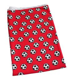 Kadambaby Double Layered Soft Jersey Baby Blanket Football Print - Red