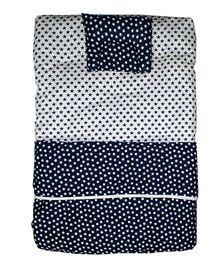 Kadambaby Premium Baby Bedding Set Star Print - Navy Blue & White
