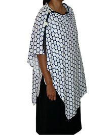 Kadambaby Breastfeeding Poncho Dots Print - Blue