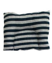 Kadambaby Stripes Baby Pillow - Black & Grey